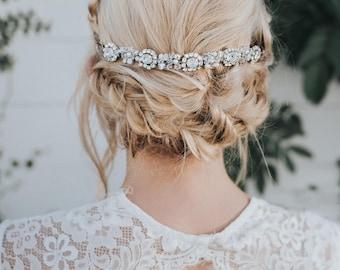 """Wedding Hair Accessories, Bridal Headband, Bridal Hair Accessories, Bridal Headpiece - """"Collette"""" Bridal Hair Band, Hair Piece"""