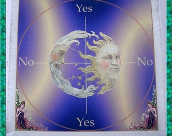 Moon Goddess Scrying Mat, Dowsing wiccan Magic Divination, fairy gift