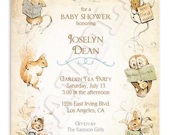 Beatrix Potter Baby Shower Invitation