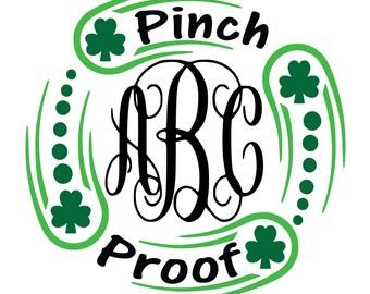 Saint Patricks Day Svg, Pinch Proof SVG, Shamrock SVG, St Patricks Svg, Clover Leaf Svg, Cricut Cut Files, Silhouette Cut Files