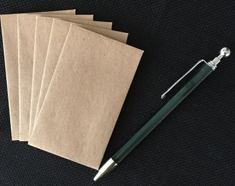 "200 -2.25""x3.75"" Mini  Kraft Envelopes, Business Card Envelopes, Money Card Envelopes, Gift Card Envelopes, Cash Giving Envelopes"