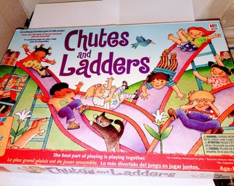 Vintage Chutes and Ladders 1998 Milton Bradley Board Game Complete