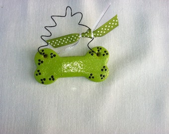 Personalized Dog Bone Ornament or magnet