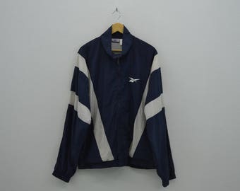 Reebok Windbreaker Mens Size XL 90s Reebok Colorblock Jacket Reebok Vintage Training Activewear