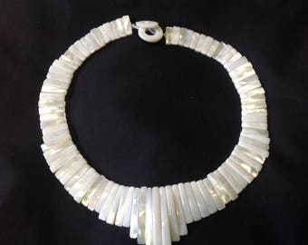 Authentic White Sea Shell Necklace. Perfect For Wedding, Gift, Dancers.. look Great on Young Teen & Adult.