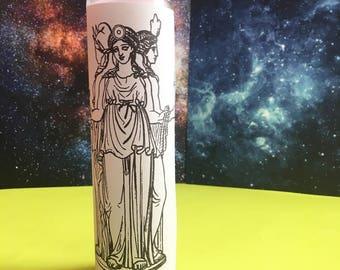 "Hecate ϟ 8"" Altar Candle - Greek Mythology - meditation - channeling - worship - handmade"