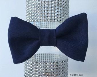 Navy Blue Bow Tie, Wedding Bow Tie, Boys Bowtie, Mens Gift