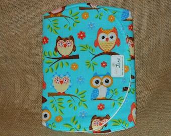 Owl Burp Cloth