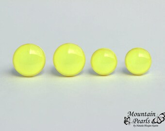 Little Girl Yellow Stud Earrings, Yellow Nickel Free Hypoallergenic Stud Earrings, Small Yellow Studs, Minimalist Earrings, Christmas gift
