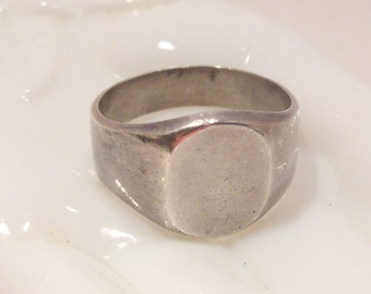 Sterling Silver Engravable Ring Size 12 1/2