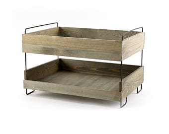 Open Front Tiered Display Stand- Shelves. Shop display. Floor display. Point of sale. - SP325