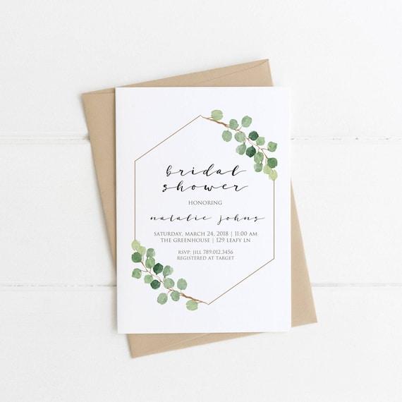 Minimalist bridal shower invitation simple bridal shower filmwisefo