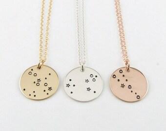 Celestial Jewelry, Zodiac Jewelry, Constellation Necklace, Birthday Gift, 12 Zodiac Signs Necklace, Gold Astrology jewelry, Zodiac Sign