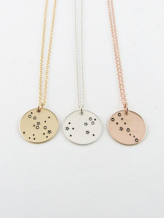 gold constellation cake and rose necklace products of sea website