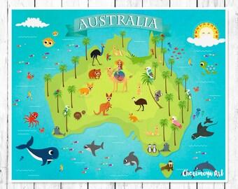world maps of australia