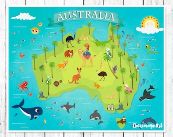 Kids maps australia map for kids childrens maps map of australia animal map kids maps map of australia kids wall maps childrens world map baby gift gumiabroncs Image collections