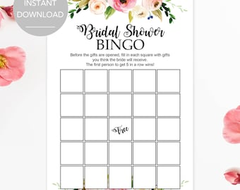 Witty image intended for bridal shower bingo printable