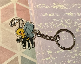 Cute bumble bee phone charm or keyring
