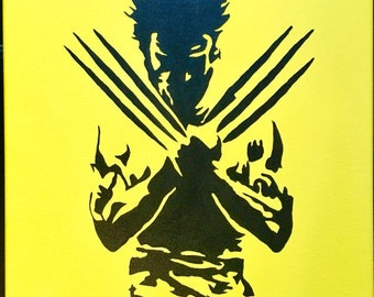 Wolverine Silhouette Painting