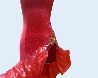 Red Dance Dress Latin   Dance Latin Dresses  Red Dance Dresses