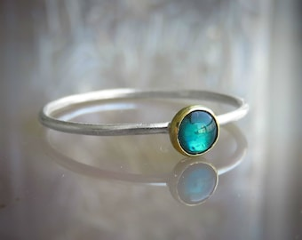Silver Abalone ring - Stacking ring - Abalone Ring - Silver rings - Shell Ring