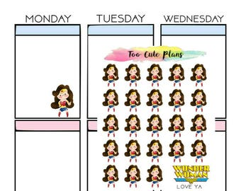 Wonder Woman Love Planner Stickers