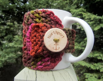 Northport Up North Michigan Coffee Cup Cozy - Perfect for Gift Giving or Keeping and Environmentally Friendly