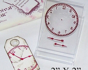 May Sale Clock Face and Hands Rubberstamp 029