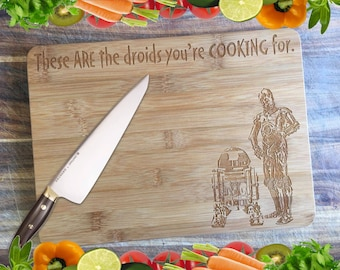 The Droids You're Cooking For - Personalised Engraved Bamboo Chopping Board