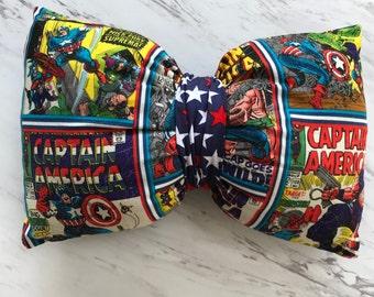 Captain America Bow Pillow