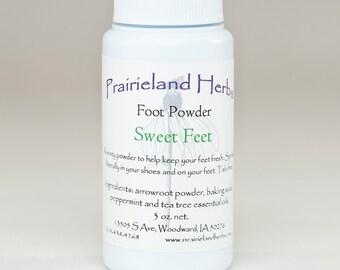 Sweet Feet Foot Powder all natural deodorizing