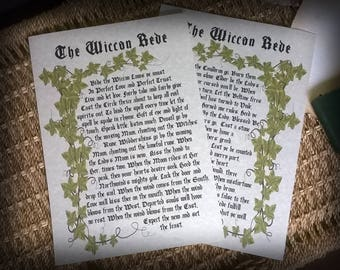 Wicca Series- Wiccan Rede Parchment Book of Shadows pages
