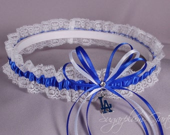 Los Angeles Dodgers Lace Wedding Garter - Ready to Ship