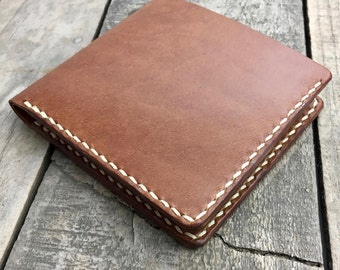Big Kangaroo Leather Wallet for Men, Personalised Leather Wallet, Large Leather Wallet, Leather Bifold Wallet