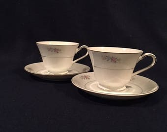 Vintage Royal M/Mita, Joanne M123 Pattern - Set of 2 Cups & Saucers - Made in Japan - Hard to find!