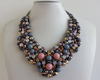 Statement necklace, Stunning necklace, Strass necklace, Jessica necklace, Collar necklace with Swarovski strass IV177