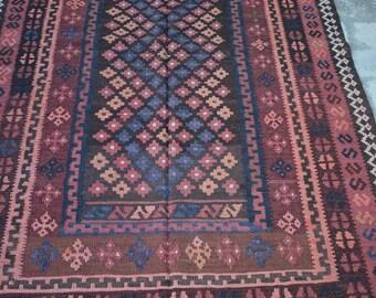 Outstanding Vintage Persian Handmade Afghan Ghallmori kilim rug
