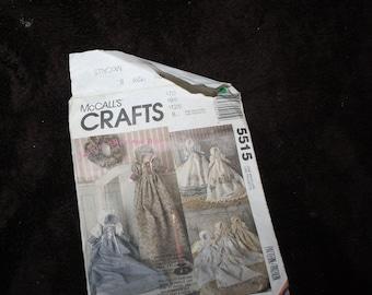 McCalls Crafts 5515 heirloom doll pattern  doll pattern
