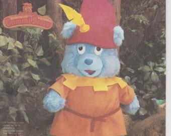 """Tummi Gummi Pattern Plush Stuffy Disney Gummi Bears 20"""" Uncut 1986 Simplicity 7789"""