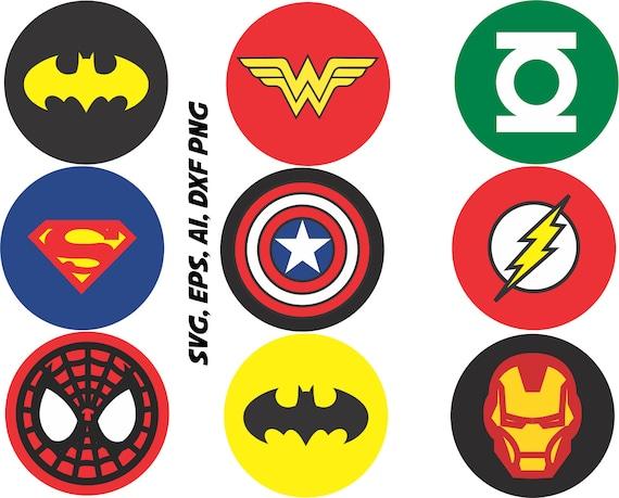 superhero logos svg captain america ironman batman etc in rh etsy com create a superhero logo online create own superhero logo