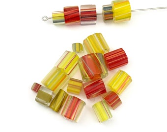 Sale!  20  furnace glass beads, 9mm to 10mm # PV142