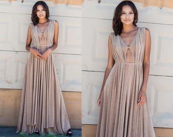 Thera Draped Cut Out Maxi Dress XS S M L XL XXL