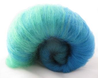 Merino Gradient Batt 40g Greens and Blues/Luxury Spinning Fiber/Ombre Spinning Fiber/Felting Wool