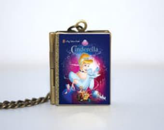 Cinderella Book Locket Necklace