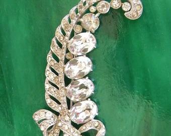 Diamond Rhinestone Vintage Brooch - Antique - Retro 1940 - Costume Jewelry Accessories