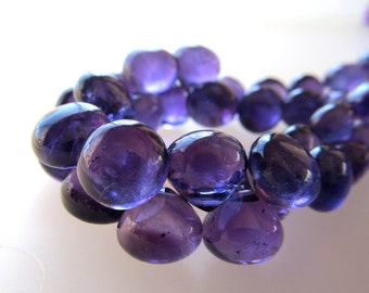 Orchid Purple Amethyst Smooth Onion Beads 10 X 8mm - 8 inch Strand