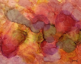 Busy Mind Original 5x7 Alcohol Ink Painting on Yupo