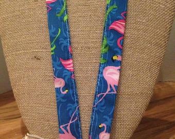 Flamingo  Lanyard Bird lanyard ID Holder Badge Holder ID Badge