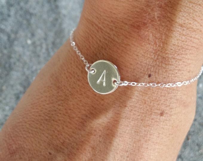 Sterling Silver, Monogram Bracelet, Initial Bracelet