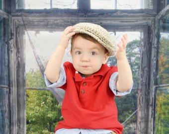 9 Sizes Boy Hat Baby Hat Toddler Hat Baby Boy Hat Toddler Boy Hat Irish Wool Donegal Cap Donegal Hat Tan Cream Flat Cap Driving Cap Newsboy